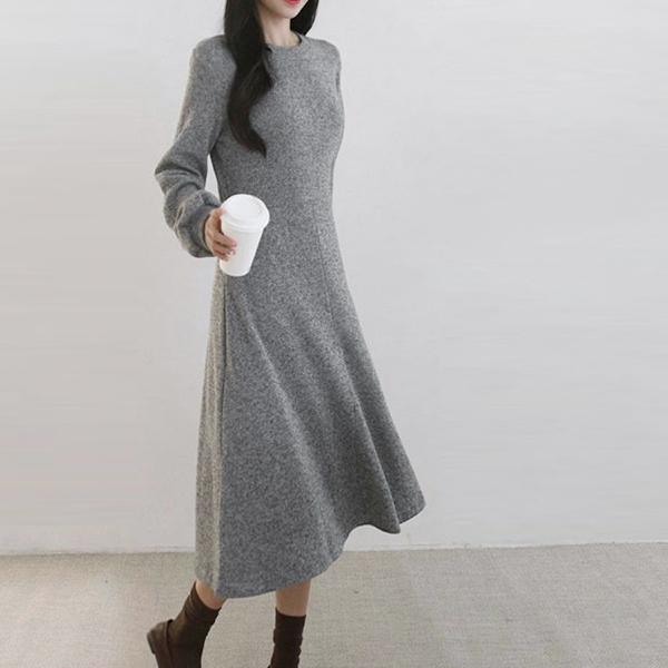 舒適修身長洋裝