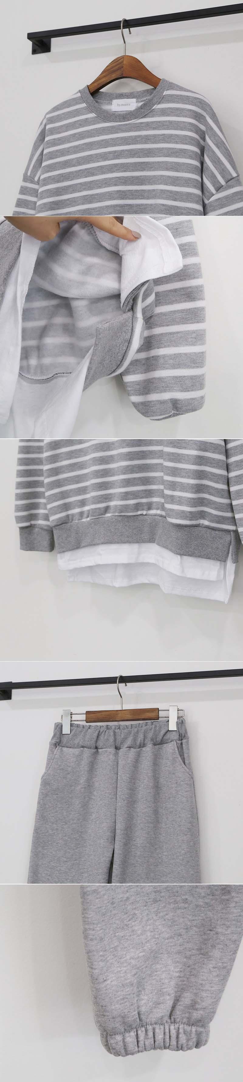 條紋舒適套裝