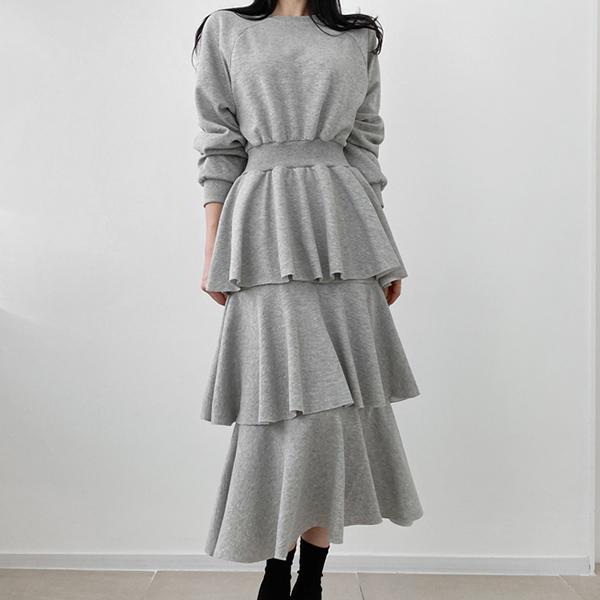 純色蛋糕裙洋裝