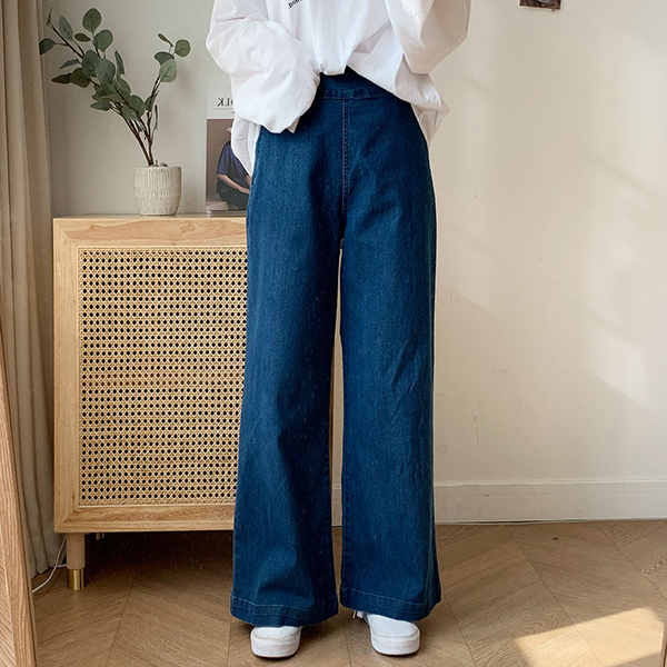 簡約側排釦牛仔褲,正韓,正韓商品,百搭,時尚,春天