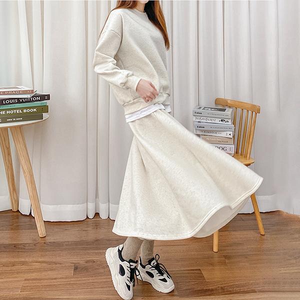 休閒風舒適純色套裝