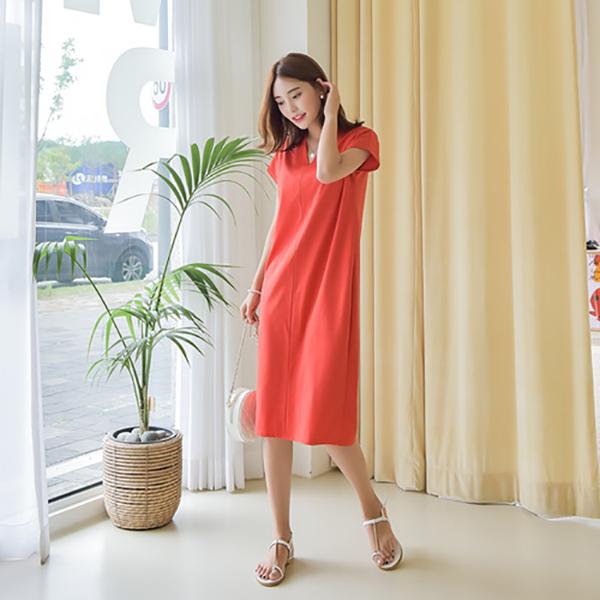 女神渡假風休閒洋裝,,KOREA,D1-21Y0306,女神渡假風休閒洋裝,