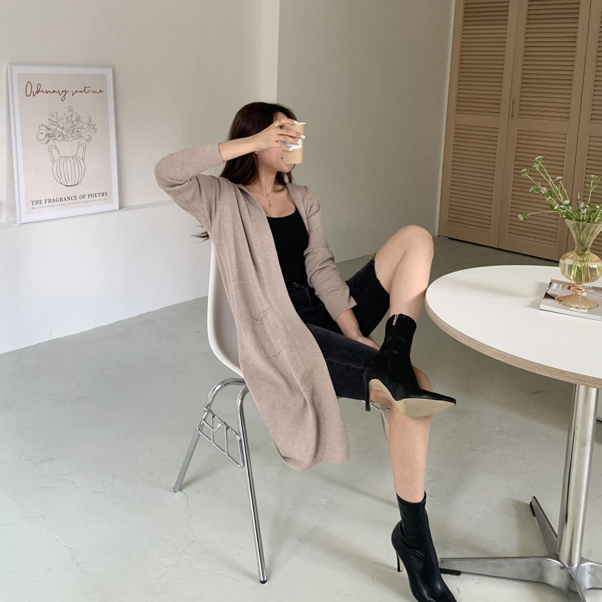 甜美婉約柔軟連帽設計外套
