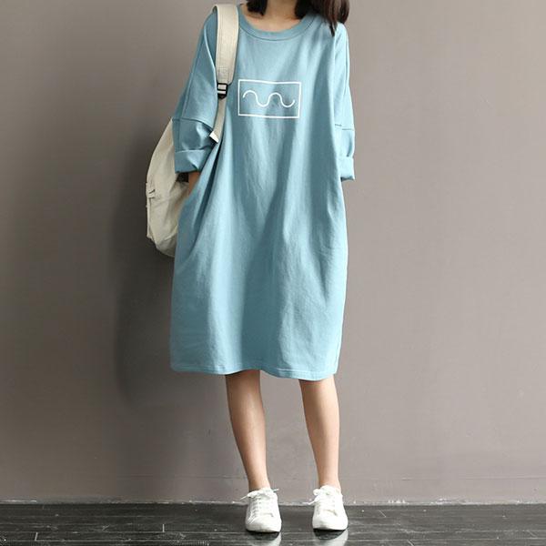 舒適柔軟純色洋裝