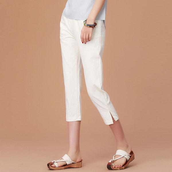 簡單純色七分褲