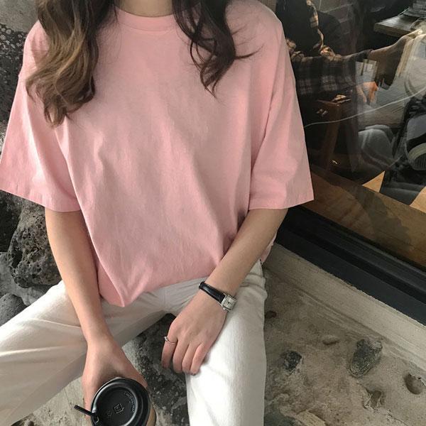 甜美馬卡龍寬鬆T恤