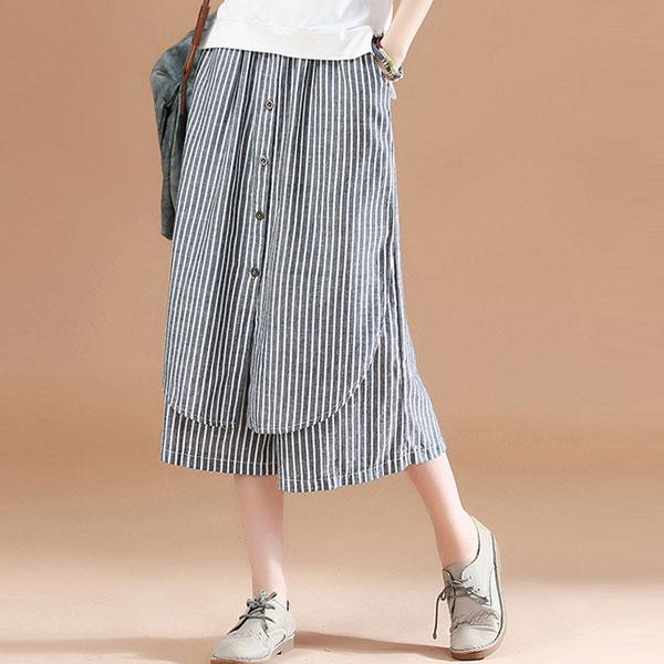 俏皮線條排釦寬褲,JEANSWE,百搭,修身,寬鬆,顯瘦