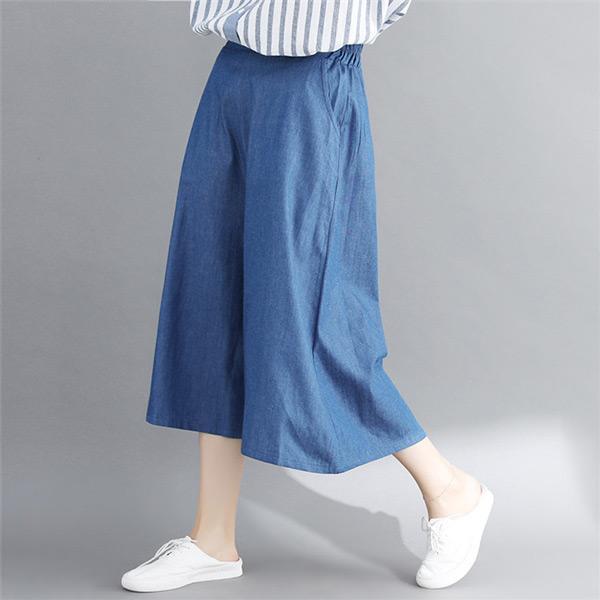 清新寬鬆牛仔褲