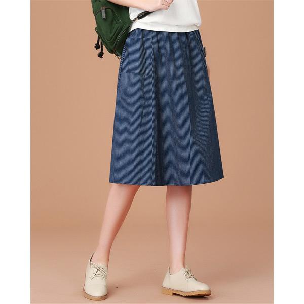 休閒線條牛仔裙,JEANSWE,百搭,修身,寬鬆,顯瘦