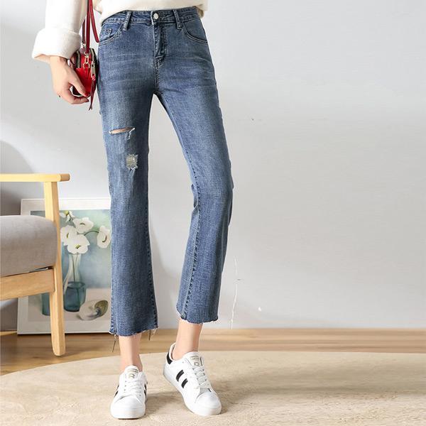 極簡刷破顯廋牛仔褲,JEANSWE,百搭,修身,寬鬆,顯瘦