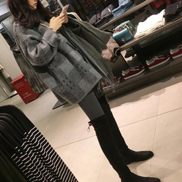 暖和寬鬆毛衣外套