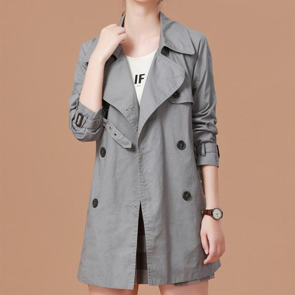 俐落翻領BF風衣外套,JEANSWE,百搭,修身,寬鬆,顯瘦