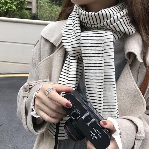 百搭條紋圍巾