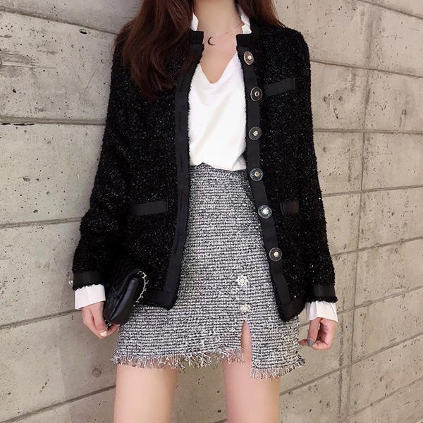 華麗香香風假兩件外套