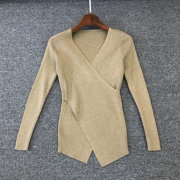 經典V領修身長袖上衣,JEANSWE,百搭,修身,寬鬆,顯瘦