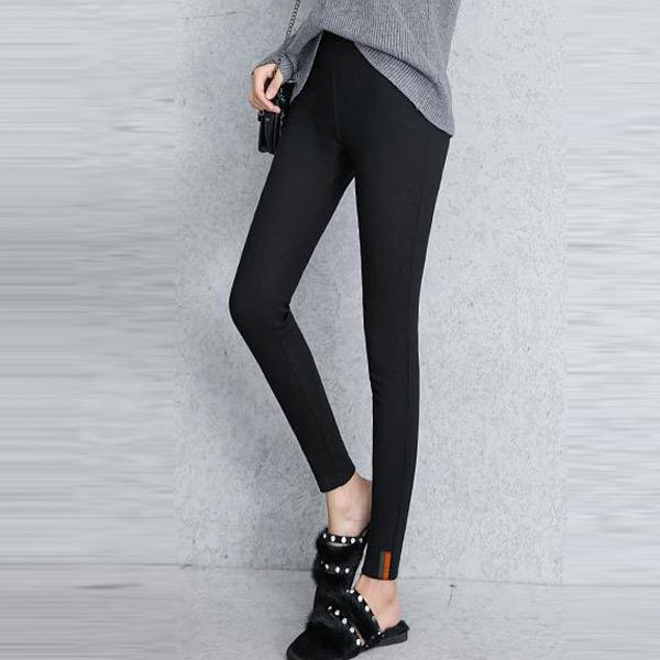 簡約厚絨修身彈力褲,JEANSWE,百搭,修身,寬鬆,顯瘦