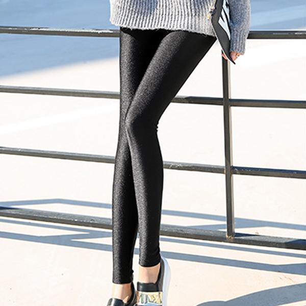 簡約厚絨光澤彈力褲,JEANSWE,百搭,修身,寬鬆,顯瘦