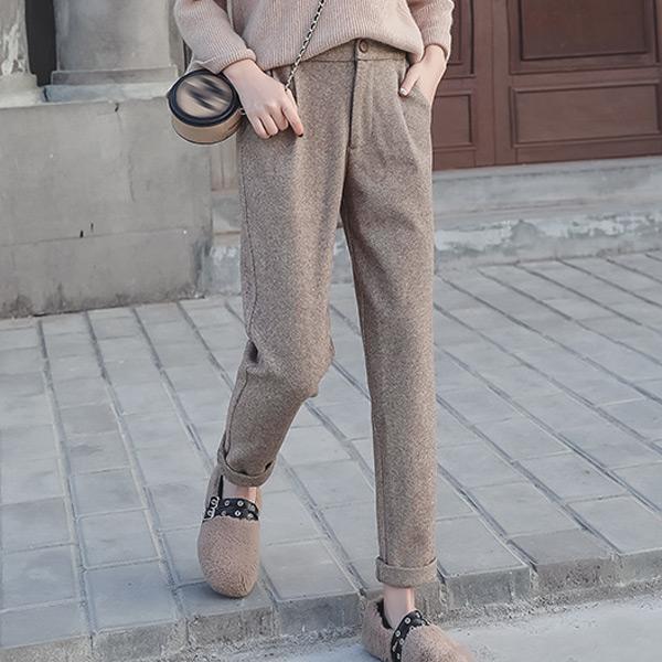 復古打摺直筒長褲,JEANSWE,百搭,修身,寬鬆,顯瘦