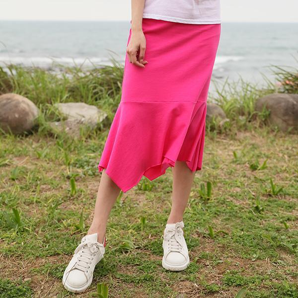 戀愛女人不規則魚尾裙,正韓,正韓商品,春夏,不規則,純色