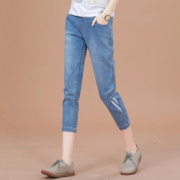 別緻設計七分牛仔褲