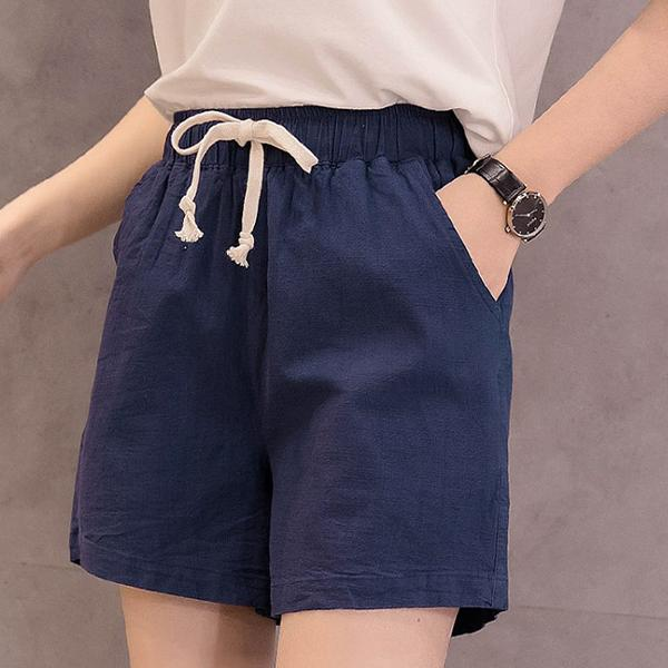簡單生活棉麻短褲