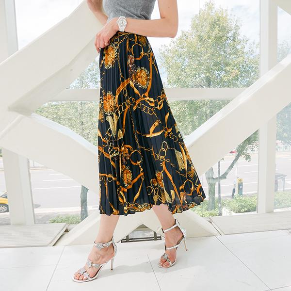多式圖案時尚氣質長裙