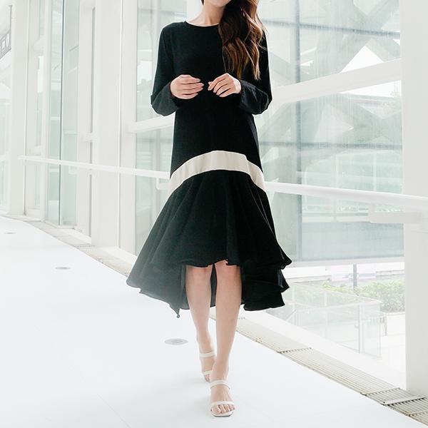 氣質美女線條洋裝