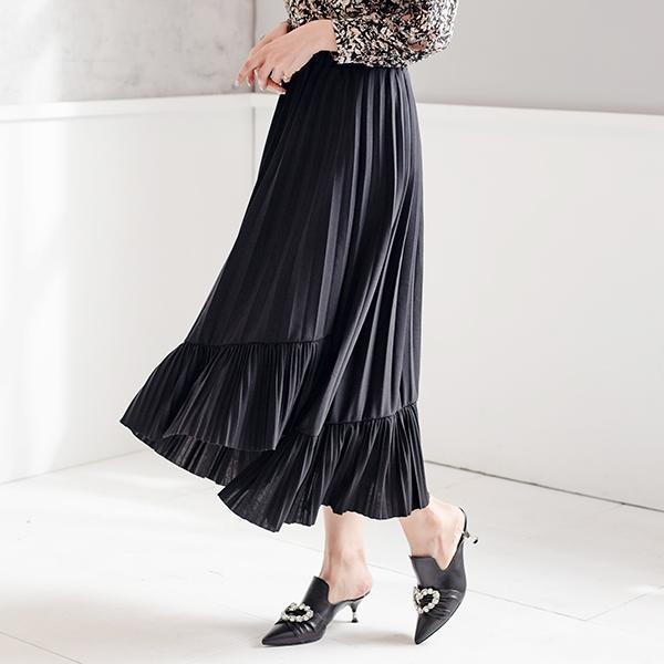百褶時尚長裙
