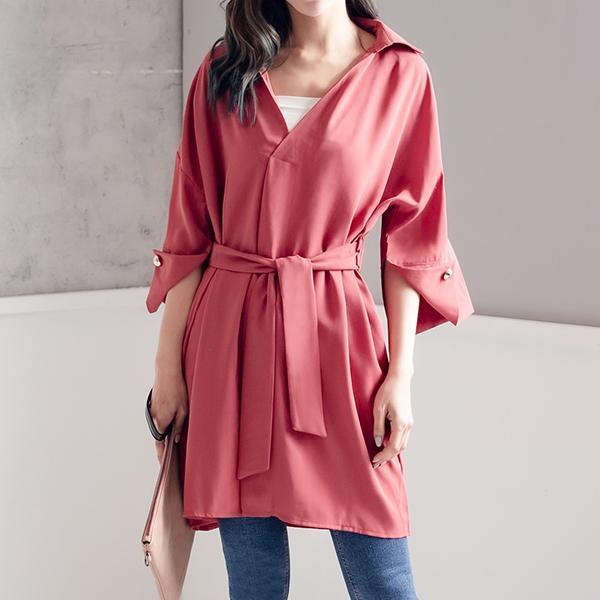 V領綁帶洋裝,JEANSWE,秋冬,時尚,百搭,氣質