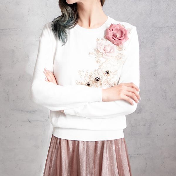 優雅玫瑰花上衣