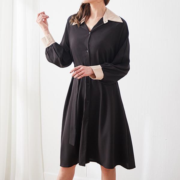 風衣款造型洋裝,JEANSWE,秋冬,百搭,氣質,時尚