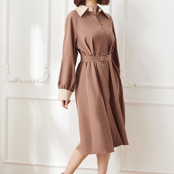 風衣款造型洋裝