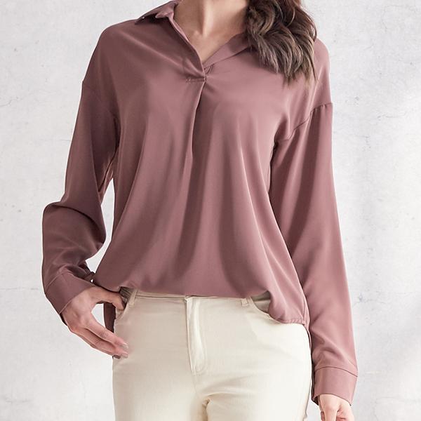 純色舒適OL襯衫