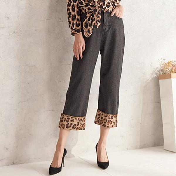 豹紋輕舞舒適長褲