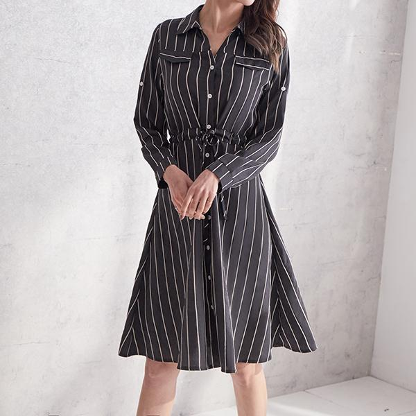 OL高雅綁帶洋裝,JEANSWE,秋冬,時尚,百搭,氣質