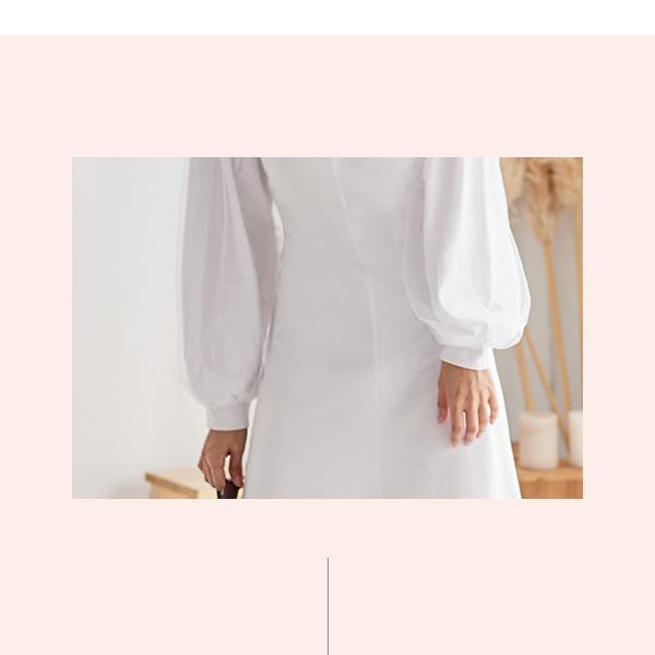 素雅圓領洋裝