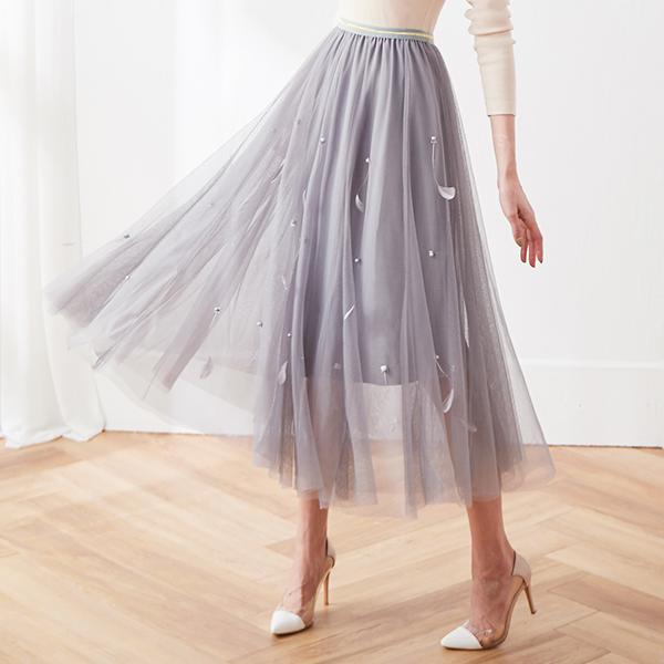 仙女羽毛氣質紗裙