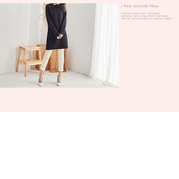 拉鍊造型針織洋裝