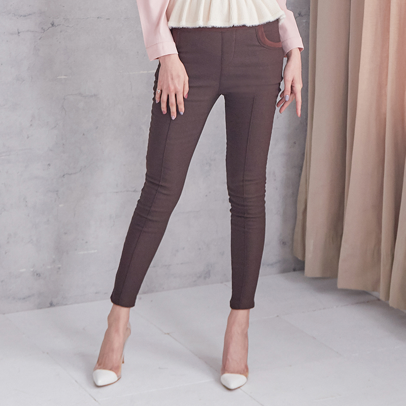 純色貼身鬆緊長褲,JEANSWE,百搭,時尚,春夏,休閒