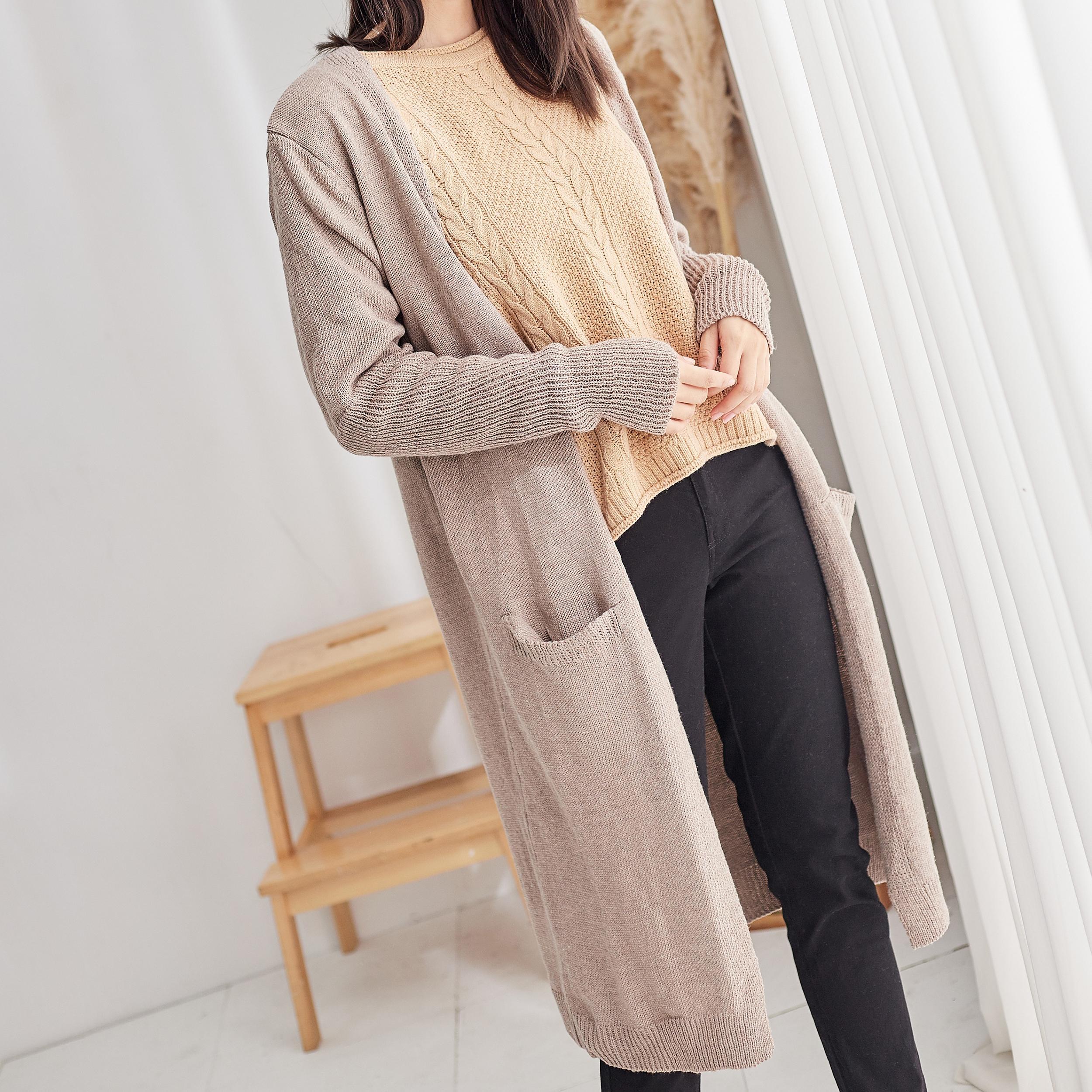 唯美自信針織開襟外套,JEANSWE,百搭,時尚,秋冬,針織