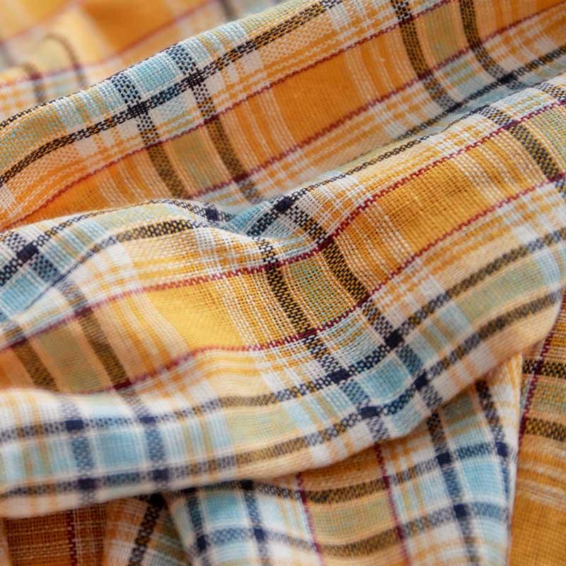 甜美格紋縮腰上衣