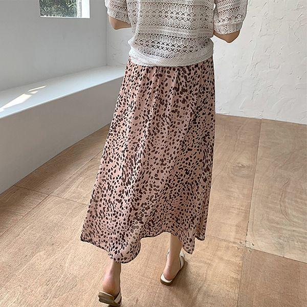 時尚豹紋百搭長裙