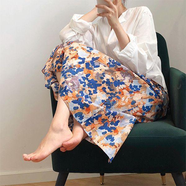 時尚印花百搭長裙