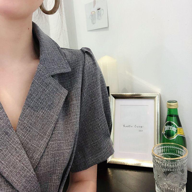 氣質修身V領洋裝
