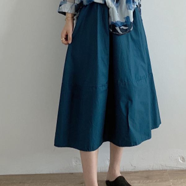 經典純色舒適長裙