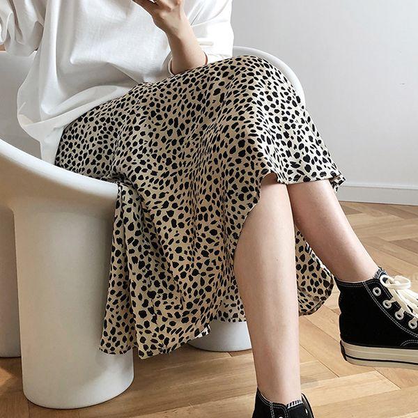 時尚輕熟豹紋長裙