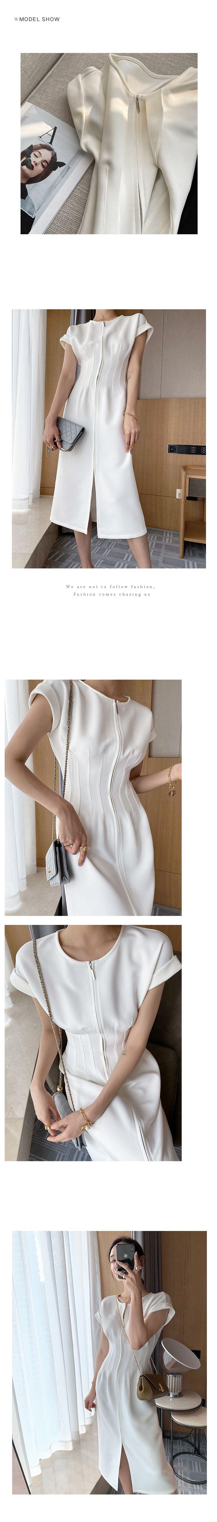 典雅雕塑收腰洋裝