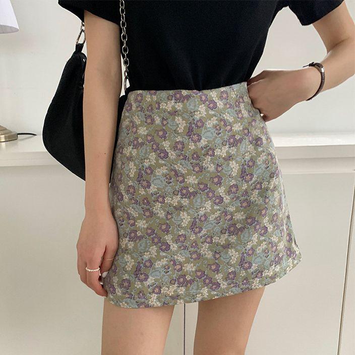 時尚印花氣質短裙