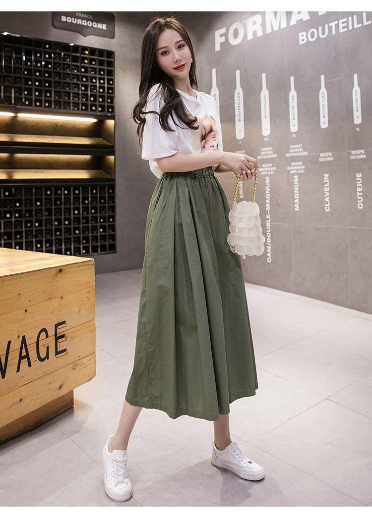 經典休閒純色褲裙