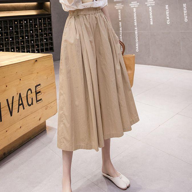 經典休閒純色褲裙,JEANSWE,百搭,中大尺碼,JEANSWE,7M-TB04287